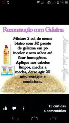 Reconstrução com gelatina e yamasterol