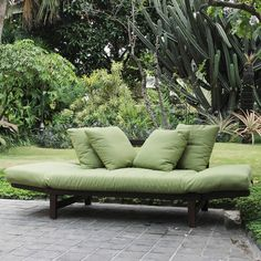 Outdoor Sofas Green Cushions And Sofas On Pinterest