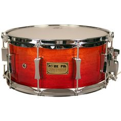 - 100% African Mahogany Ply Shell - Candy Yellow to Candy Red Hi Gloss Fade - 2.3mm hoops - Pork Pie Exclusive Brass Snare Wire - Pork Pie Exclusive Hour Glass Lugs - Remo Heads