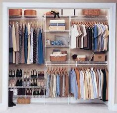 Best Closet Systems Image detail for -ClosetMaid - wire shelving & wardrobe solutions.Image detail for -ClosetMaid - wire shelving & wardrobe solutions. Wardrobe Organisation, Wardrobe Storage, Wardrobe Closet, Closet Storage, Bedroom Storage, Bedroom Organization, Organization Ideas, Bedroom Wardrobe, Closet Maid Shelving