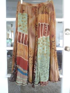 Lined Hippie Boho Flowing Skirt. Made in India by LandofBridget, $15.00