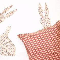 #monday #mood #rabbithole #patternlove #blockprint #cushioncover #red