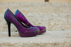 Love my wedding shoes. Color changed from purple to teal to hint of gold depending on how the light hit.