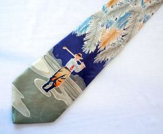 Tommy Bahama Men's Golfer Necktie Bobby Jones by CandyAppleCrafts,