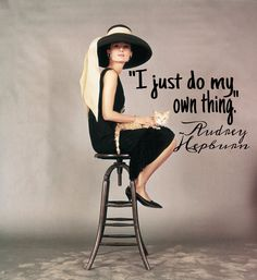 """I just do my own thing"" A.H"