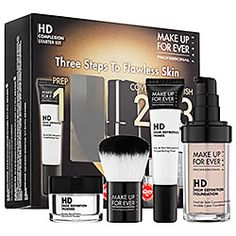 MAKE UP FOR EVER HD Complexion Starter Kit in 115 Ivory - for light skin with pink undertones #sephora