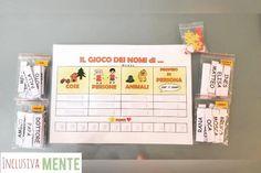 Ispirandomi al classico gioco dei nomi ecco una versione divertente e accessibile a tutti i bambini!