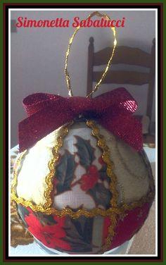 Palla natalizia stile patchwork