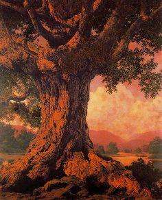 wasbella102:    Maxfield Parrish - An Ancient Tree