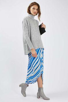 Stripe Wrap Midi Skirt - @topshop
