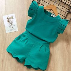 Jun 2019 - Kids Girls Clothing Sets Summer New Style Brand Baby Girls Clothes short Sleeve T-Shirt+Pant Dress Children Clothes Suits Girls Summer Outfits, Dresses Kids Girl, Baby Outfits, Kids Outfits, Dress Girl, Baby Dresses, Winter Outfits, Baby Dress Design, Baby Dress Patterns