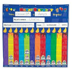 Love this Birthday Pocket Chart by Learning Resources on Kindergarten Classroom Decor, Classroom Themes, Classroom Resources, Teacher Supplies, School Supplies, Birthday Graph, Educational Supply Store, Bulletin Board Display, Bulletin Boards
