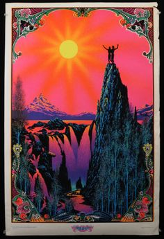 """Garden of Eden"" Blacklight Velvet Poster, 1970 by L.S. Day"