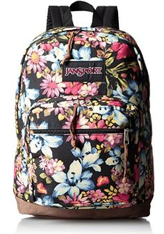 The JanSport Right Pack Expressions features a variety of prints, including animal prints, and colors on unique fabrications. This backpack includes signature suede leather bottom, 15 in laptop sleeve and front pocket with organizer. Jansport Right Pack, Jansport Backpack, Laptop Backpack, Backpacks For Sale, Cool Backpacks, 8 Year Old Boy, Floral Backpack, Look Good Feel Good