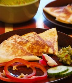 Cheese Quesadillas-- EASY meal idea from The Peaceful Mom!