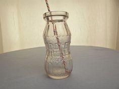 Vintage Bireley's Milk Bottle-Shaped Embossed Soda Bottle