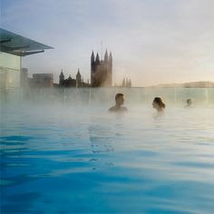 The rooftop pool at Thermae Bath Spa - Find this and more of the best Spas at Red Online.
