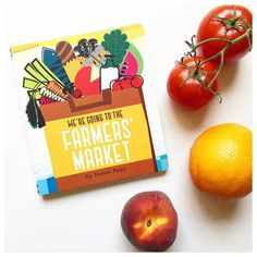 Ani went through a major phase with this book a few months ago and I never got tired of the gorgeous and bright graphic artwork. @liketoknow.it www.liketk.it/1FN5D #liketkit #janssenspicturebooks #kidlit #books #produce #peach