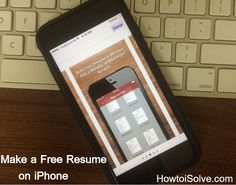 How to Make a Resume on iPhone/iPad: Build Attractive Resume in Minutes