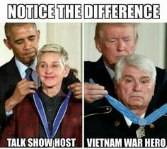 What a refreshing difference. God I'm SO damn glad Obama gone. What a pos he was.
