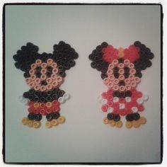 Minnie and Mickey Mouse hama beads by lmf1101