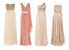 rose tone mismatch dress idea