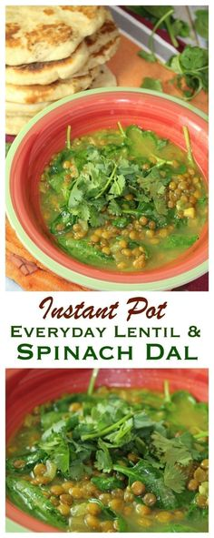 Everyday Lentil & Spinach Dal {Instant Pot}