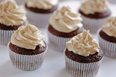 Tasty cupcakes, closeup