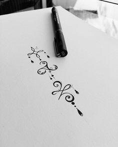 """WEBSTA @ateliekefonascimento Arte desenvolvida para tatuagem da @luacaroll cliente do estado da Bahia. Felicidade. Triskell (equilíbrio entre corpo, mente e espírito). Zibu ( O símbolo para """"Recomeço"""", em Zibu, tem o nome de """"Hakuma"""" e a pedra preciosa associada com o simbolo é o quartzo rosa.) Arte comercial. Www.kefonascimento.com.br"""
