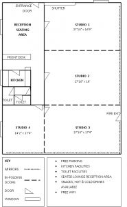 dance studio floor plan school - Google Search