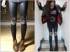 ::: OutsaPop Trashion ::: DIY fashion by Outi Pyy :::: DIY Knee armour