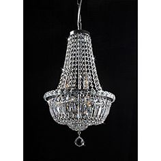 Michelle: Her Closet?  Maybe.........  @Overstock - This Centerpiece six-light crystal chandelier adds sophisticated beauty to any decor. The light fixture features an iron base with a chrome finish.  http://www.overstock.com/Home-Garden/Centerpiece-Chrome-and-Crystal-6-Light-Chandelier/6708941/product.html?CID=214117 $199.99