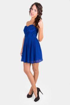$60.40 € Vestido de fiesta palabra de honor en azul Paris disponible en dresslux.com European delivery