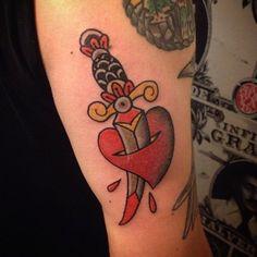 Dagger Tattoo, Skull, Tattoos, Tatuajes, Tattoo, Tattos, Skulls, Sugar Skull, Tattoo Designs