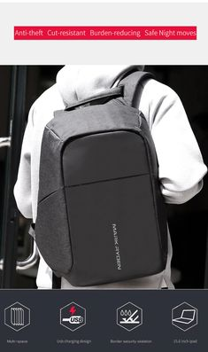 910119d3d7c Mark Ryden Multifunction Laptop Backpack Anti Theft INNOVATIVE, SAFE,  ANTI-THEFT, SMART