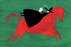 Cabalgando con la lectura (ilustración de Anne Laval)