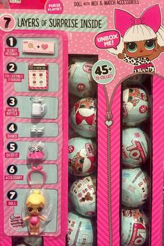 a surprise doll w/mix-and-match accessories. ~Inside the BALL contains 7 LAYERS of surprises & FUN! Little Girl Toys, Toys For Girls, Kids Toys, Birthday List, 8th Birthday, Lol Dolls, Barbie Dolls, Barbie Doll House, Playmobil