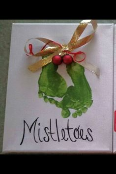 Great DIY for a Christmas present for grand parents of your little one's. Make them cry:)