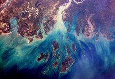 Le delta du Saloum, au Sénégal, est classé patrimoine mondial de l'Unesco - ESA / NASA / THOMAS PESQUET