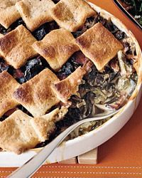 Collard Cobbler with Cornmeal Biscuits Recipe from Food & Wine