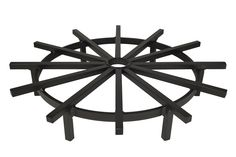 Super Heavy Duty Ship's Wheel Firewood Grate for Fire Pit