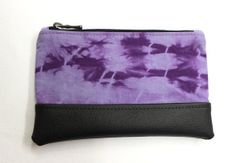 Violet Pouch, Tie Dye Purse, Shibori Clutch, Purple Pouch, Pencil Case, Zipper Pouch, Violet Clutch, Hand Dyed Pouch, Cosmetic Bag on Wanelo