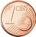 1 Euro Cent Coin (Common Side)