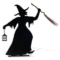 Martha Stewart Halloween Witch Yard Silhouette