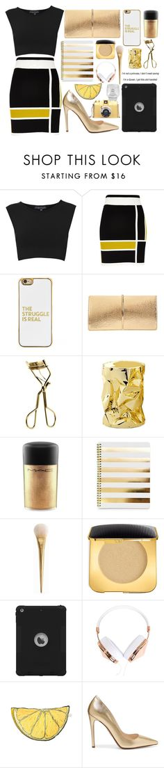 """The Struggle is Real"" by aminebadalova ❤ liked on Polyvore featuring Topshop, River Island, BaubleBar, Nina Ricci, MAC Cosmetics, Opinion Ciatti, Tom Ford, Frends, Silken Favours and Prada"