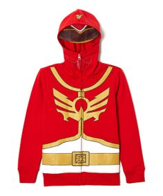 Take a look at the Red  Yellow Power Rangers Zip-Up Hoodie - Boys on #zulily today!