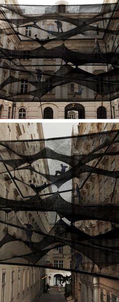 so great - I'd love to go on this! - Numen-precident-Black Installation between buildings