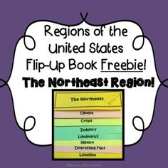Regions of the United States Flip-Up Book FREEBIE: The Northeast