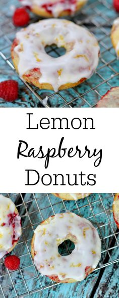 Lemon Raspberry Donuts