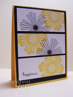 Simple and beautiful card by stamp it with Jen